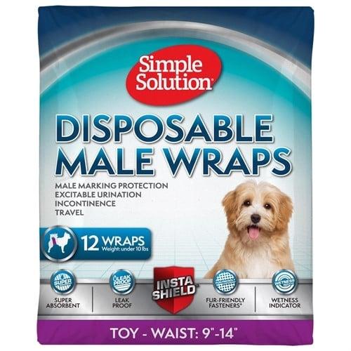 Памперси за мъжки кучета Simple Solution 12бр - различни размери
