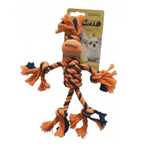 Играчка за куче тенис топка с въже - 25 см.