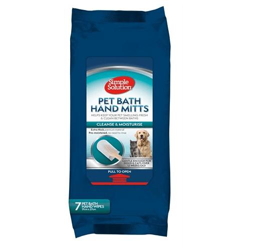 Simple Solution Pet Bath Hand Mitts, 7бр - кърпи за суха баня