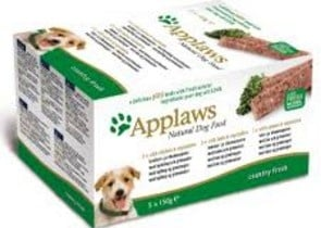 Applaws Dog Pate MP Country Selection -Chicken, Lamb, Salmon - Пастети за куче в три различни вкуса - 5 х 150 гр