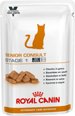 Royal Canin VCN CAT Senior Consult Stage 1 - паучове за кастрирани котки над 7 години  0,100 кг
