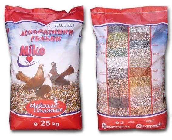 Ежедневна храна за декоративни гълъби - две разфасовки