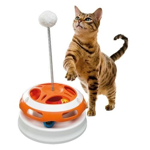 VERTIGO FERPLAST - играчка за котки ,въртележка с пружина -Ø 24 x 36,5 cm