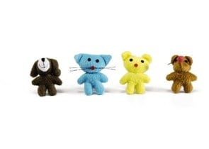 Сладки малки плюшени играчки - 6см.