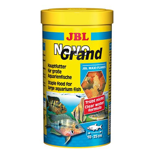 JBL NovoGrand 1l - Основна храна за големи декоративни рибки – люспи. Балансирана храна с повече от 50 съставки и 7 вида люспи