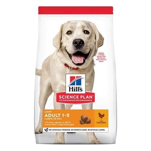 Hills - Science Plan Canine Adult Light Lаrge Breed с пилешко - Суха храна за кучета над 25 кг с понижени енергийни нужди, на възраст от 1 до 5 години