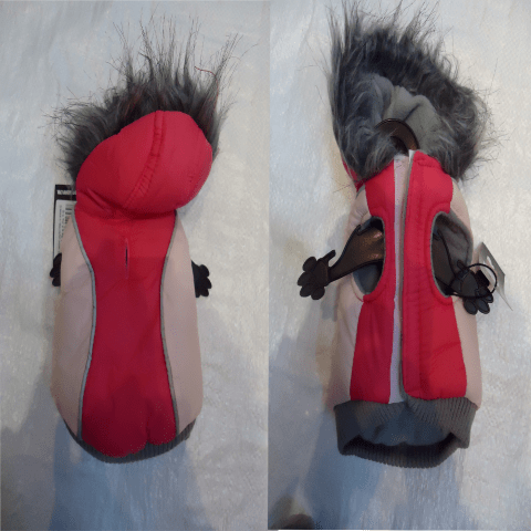 Яке с качулка, шушляк и полар, със залепване