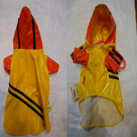 Жълт дъждобран  с качулка