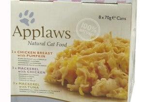Applaws Cuisine selection - Хапки коте микс пиле, тиква, скумрия, риба тон 8х70гр