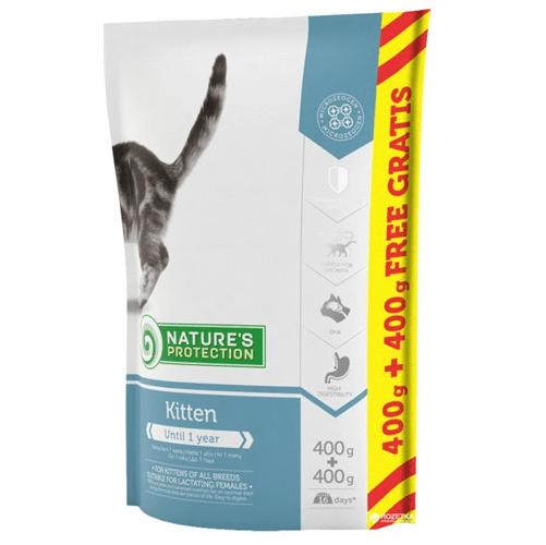 Храна за коте Nature`s Protection Kitten - За растящата котка До 1 годишна възраст 400гр+400гр