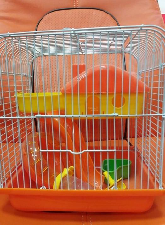 Клетка за дребни гризачи с тунел и хранилка