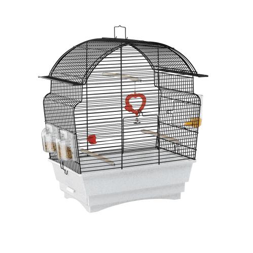 КЛЕТКА ЗА ПТИЦИ /46.5x28x54см/- Подходящ за канарчета и малки екзотични птици.Оборудвана.