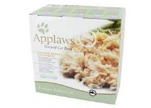Applaws Recipe Selection - Хапки коте микс филе пиле,риба тон,сирене, скумрия и царевица -8х 70гр