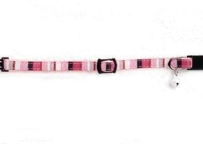 Розов нашийник със звънче - 8мм.х14-23см.