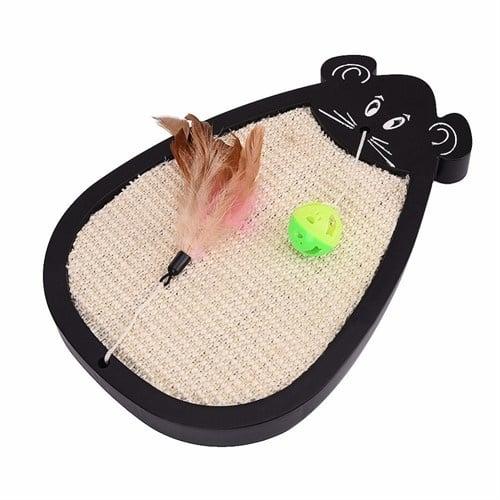 Драскало за коте под формата на мишка с топче