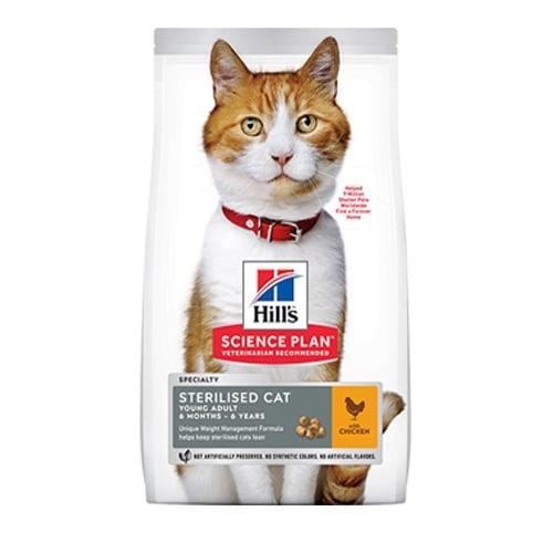 Hill's Science Plan Young Adult Sterilised с риба тон - Балансирана самостоятелна храна с риба тон за кастрирани котки от 6 месеца до 6 години - три разфаовки