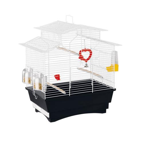 КЛЕТКА ЗА ПТИЦИ 47Х29,5Х50 СМ - малка клетка за канари, екзотични и други птици, оборудвана