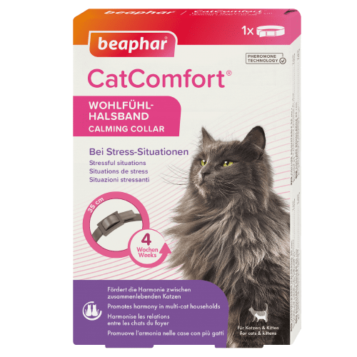 Успокояващ нашийник с феромони за котки Beaphar CatComfort Calming Collar