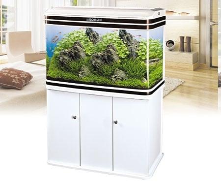 Sobo AA 1500H - аквариум с капак, осветление и дънен филтър