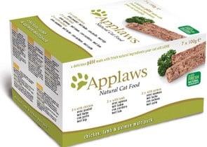 Applaws Cat Pate MP Chicken, Lamb & Salmon - Пастети за коте с различни вкусове - 7х100гр