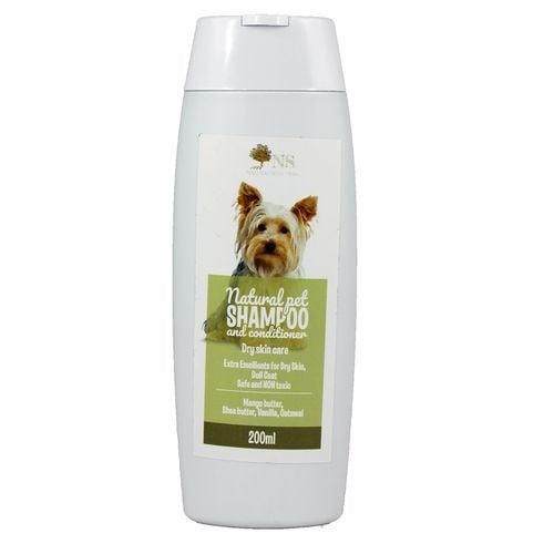 Шампоан и балсам за кучета Natural Selection, за суха кожа - с масло от манго, масло от шеа, ванилия, овесени ядки, 200 мл