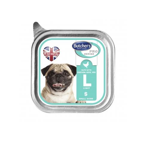 Пастет за куче Butcher's Pro series с пиле, ориз и зеленчуци 150гр- за кучета склонни към напълняване