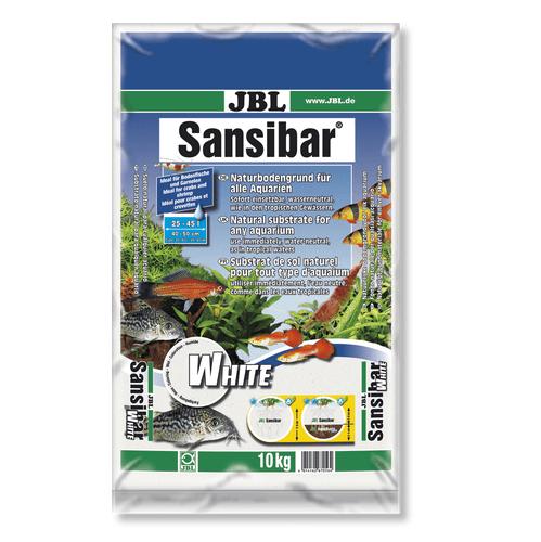 JBL Sansibar WHITE -10кг - дънен, подхранващ субстат за сладководни или соленоводни аквариуми и териариуми