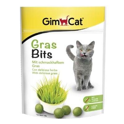 GimCat GrasBits - Трева на таблетки за котки, 15 гр.