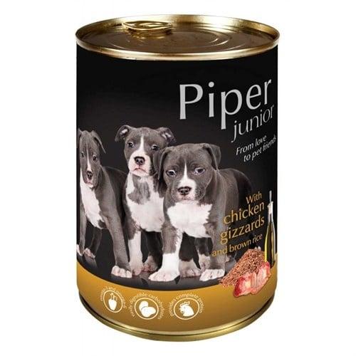 Piper Junior - Премиум консервирана храна за малки кученца - 400 гр - различни вкусове