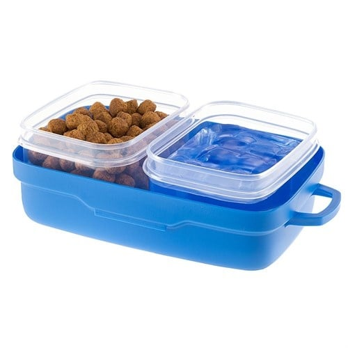 Pet Risto - Пластмасов комплект за храна и вода - по време на разходка и пътуване