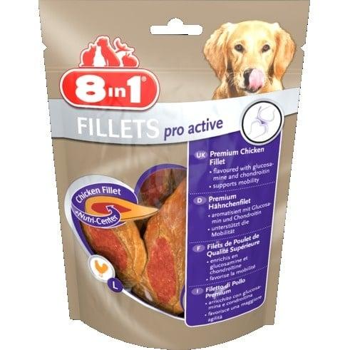 Лакомство за куче 8in1 Филенца Pro Active S - Пилешки филенца  увеличаващи жизнеността на Вашето куче