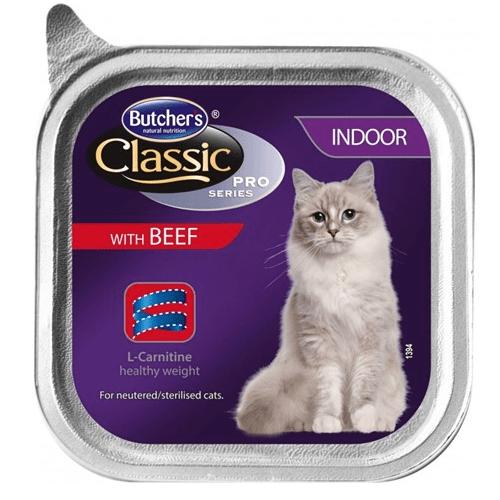 Butchers Classic Pro Series Indoor - Пастет за кастрирани котки, различни вкусове