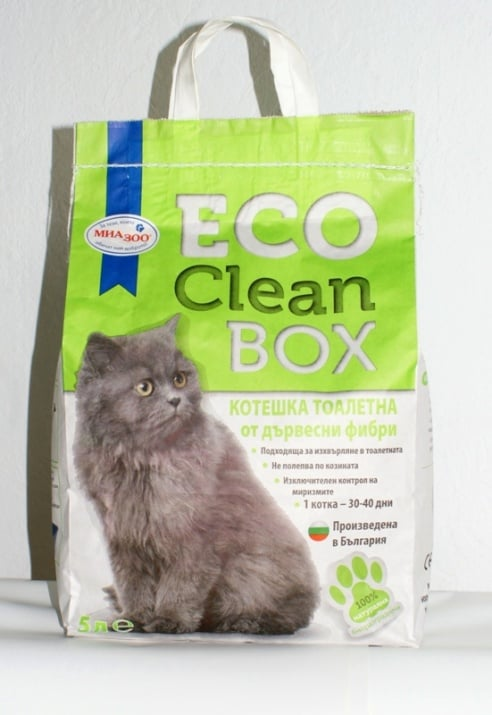 Clean Box - биоразградима постелка за котешка тоалетна от дървесни фибри