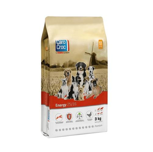 CAROCROC ENERGY 25/16 - Храна за кучета от 12 месеца до 8 годишна възраст - полицейски, състезателни кучета, ловни, спасителни, пазачи, бременни и кърмещи кучета - 3.00кг; 15.00кг