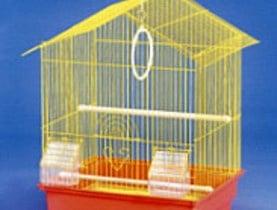 Голяма клетка за вълнисти папагали с остър покрив