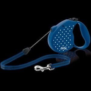 Flexi Dots Small /автоматичен повод за кучета до 12кг въже 5м/