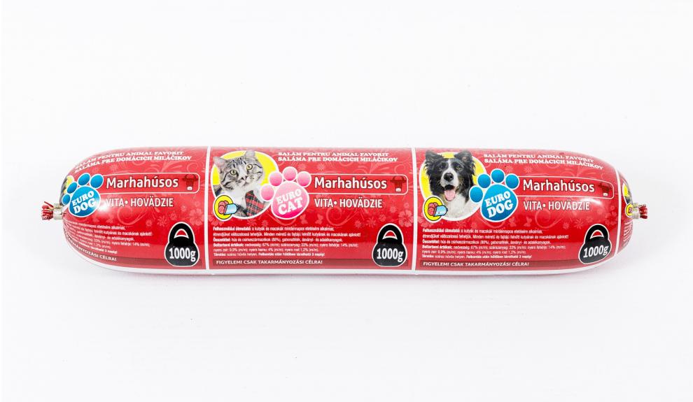 Салам за кучета и котки с телешко месо