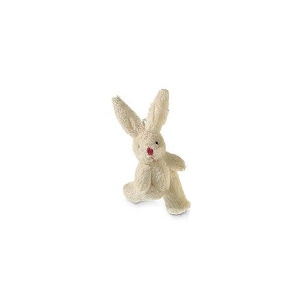 Плюшено зайче, 8 cm, кремаво