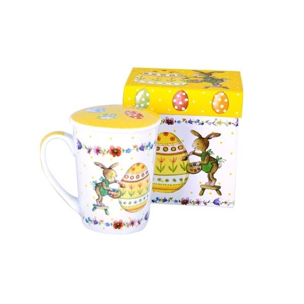 Порцеланова чаша с капаче - Великденско зайче