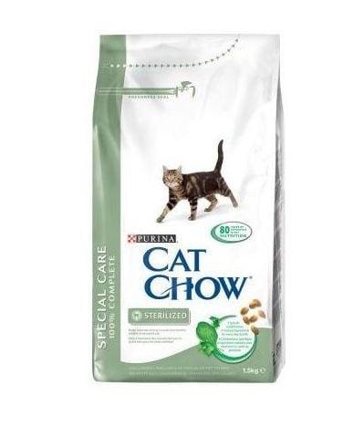 Cat Chow Adult Special Care Sterilised - Балансирана храна за стерилизирани/кастрирани котки със склонност към наднормено тегло