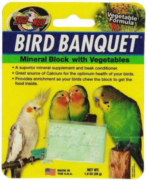 Минерален блок със зеленчуци за птици