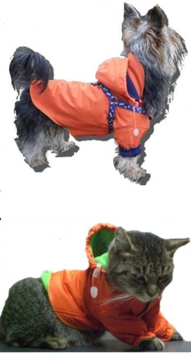 ТОПЛА И НЕПРОМУКАЕМА ДРЕХА ЗА КУЧЕТА И КОТКИ - АНОРАК (със сваляща се качулка) - есенно-зимен вариант