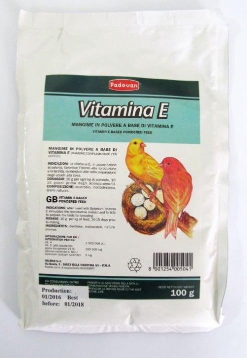 Витамин Е за декоративни птици