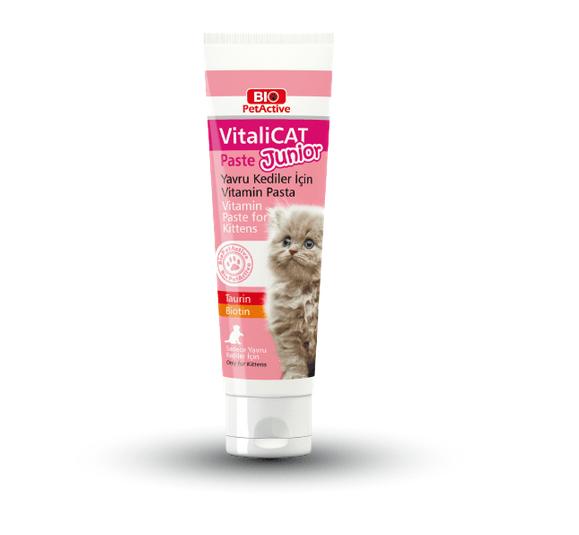 Vitalicat Junior - мултивитаминна паста с таурин и биотин - за малки котенца, бременни и кърмещи котки, 100 мл.