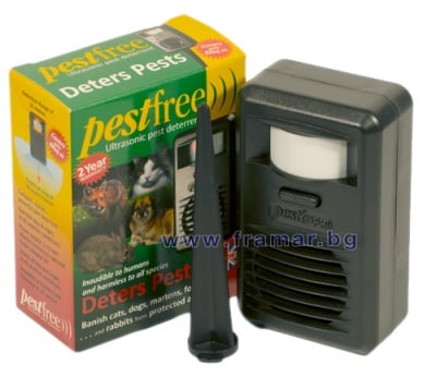 Уред с ултразвук за отблъскване на кучета и котки, PESTFREE 88