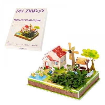 """3D пъзел """"Мелница"""" с жива градина"""