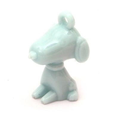 Висулка плътна куче 40x26x21 мм дупка 3.5 мм синя -50 грама ~ 8 броя