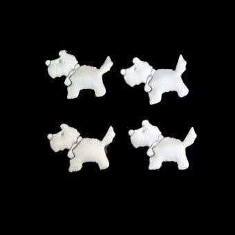 Куче 25 мм бяло -50 броя