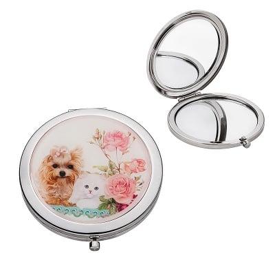 Джобно огледалце - Коте и куче, 7 см.
