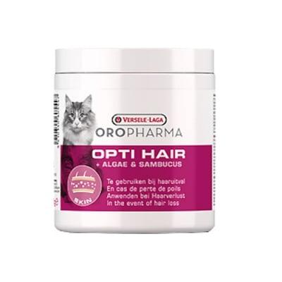 Opti Hair Cat 130гр - добавка към храната за котки за лъскава козина и здрава кожа и за периодите на смяна на козинат